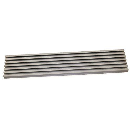 Emuca 8934869 Belüftungsgitter für Kühlschrank/Herd aus Rostfreier Aluminiumeloxierung (Herd Belüftung)