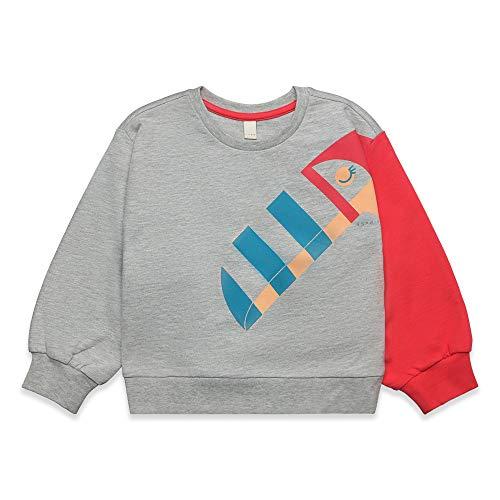 ESPRIT KIDS Mädchen H Sweatshirt, Silber (Heather Silver 223), 128 (Herstellergröße: XS)