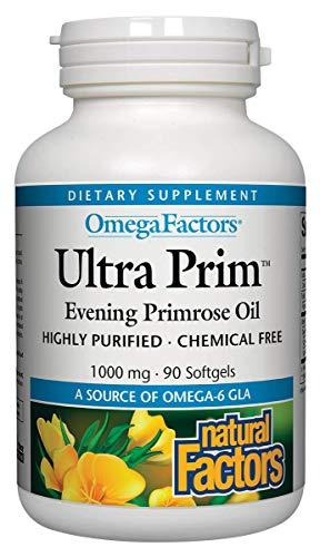 Natural Factors OmegaFactors Ultra Prim Evening Primrose Oil 500mg 180 sgels