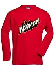 Camiseta manga larga Batman retro -Cape custom- (Talla: TALLA-XL)