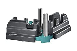 wolfcraft Schmiege und Schneidlade 6948200 | 2in1 Gehrungslade aus Stahl mit Winkelhalbierenden zum Schneiden von bis zu 100mm hohen Fußleisten & Ausmessen von Raumwinkeln