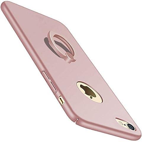 iPhone Hülle Mit Ring Ständer, Extra Dünne Harte Schutzhülle Bumper