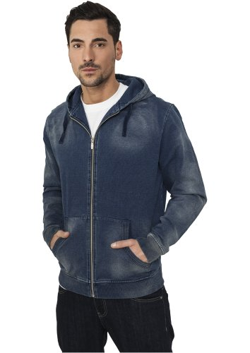 URBAN CLASSICS Denim Zip Hoody, original Original