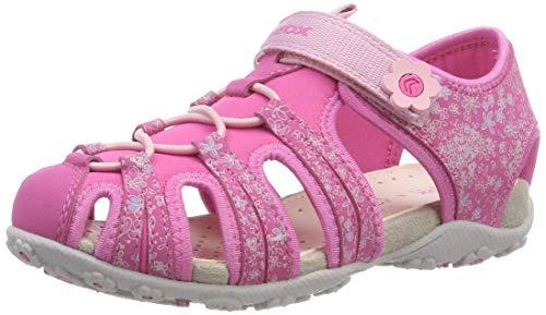 Geox Mädchen JR Roxanne B Geschlossene Sandalen, Pink (Fuchsia C8002), 31 EU Fuchsia Patent Schuhe