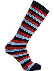 Ayuda para Héroes de los niños conejo Merino calcetines de tubo de esquí, Infantil, color azul oscuro, rojo y azul claro, tamaño Size 6½ - 9