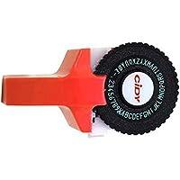 teng hong hui Manual de la Impresora DIY plástico Letras Etiqueta de máquina de Escribir de grabación en Relieve de la máquina Impresora de Etiquetas, Rojo