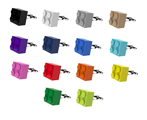 LEGO  Brick Cufflinks SILVER PLATED - Wedding Groom Mens Gift