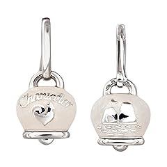 Idea Regalo - Chantecler / Et Voilà / orecchini campanella / argento e smalto bianco perlato
