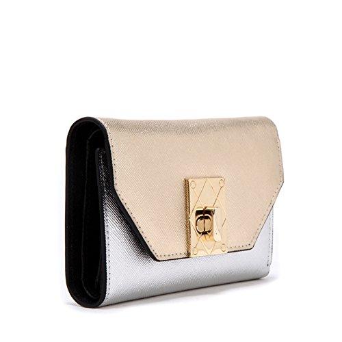 Breve portafoglio donna/Colore delicate dolce Signore Velcro 30 per cento a corto di denaro clip-A A