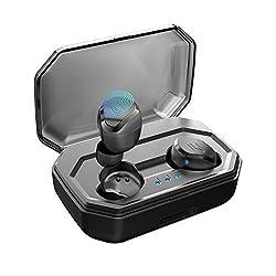 Antimi Bluetooth Kopfhörer Kabellos Noise Cancelling In Ear Ohrhörer Wireless Bluetooth 5.0 Headset mit 3000mAh Batterie Sport IPX7 Wasserdicht Mikrofon für iPhone Android ...