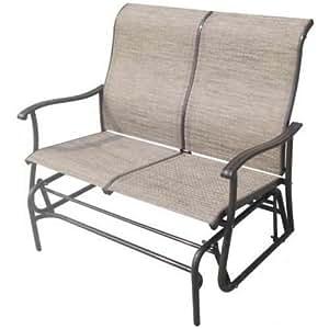 Leiria 2 Seater Garden Rocking Glider Bench Chair: Amazon ...