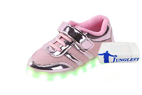 [+Kleines Handtuch]Die neuen LED-Lampe leuchtet Schuhe Schuhe koreanischen Männer und Frauen Schuhe USB-Lade Licht emittierende Leucht sieb c0