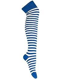 d10695dab2a755 Goldschmidt Kostüme Overknees Strümpfe gestreift oder Uni Überkniestrümpfe  Baumwolle Karneval Fasching