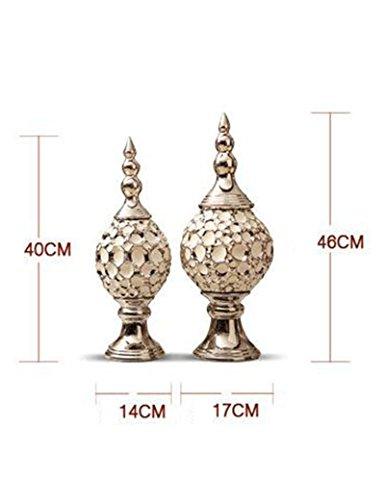 Desktop-Ornamente Handwerksdekoration - Keramik-Flow Gold Silber europäischen Stil Creative Crafts...