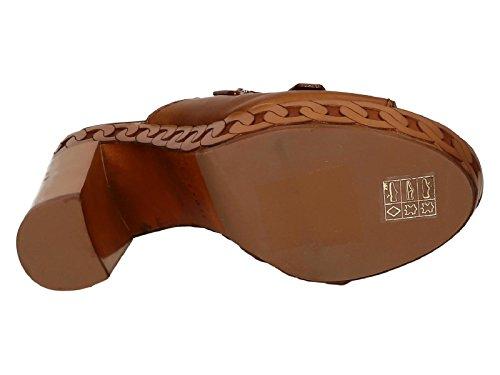 Sabot à plateforme Casadei en cuir Marron claire - Code modèle: 8188R117.FU1RANG400 Cuir