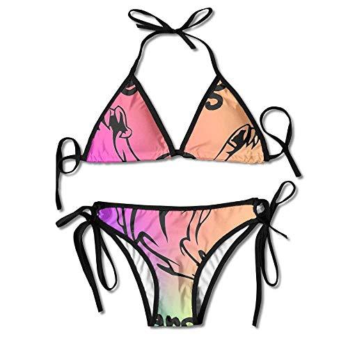 Ghost in Rainbow Women's Two-Piece Suits Bikini Beach Bathing Swimsuit