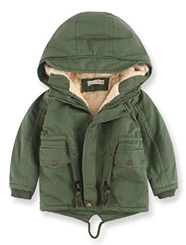 ARAUS Cappotto con Cappuccio Parka da Ragazzo Zip Up Impermeabile con Fodera Pelluccia Inverno 0-9 Anni