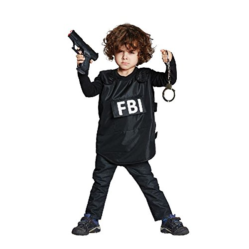 Weste Fbi Agent Kostüm (FBI-Weste Kinder Kostüm Agent Polizist Karneval Fasching)