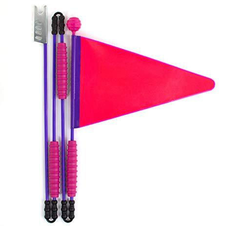 Cycley   Fahrradwimpel   Fahrradfahne für Kinderfahrrad   Pink Reflektierend   4-teilig   Wimpellänge 160 cm   z.B. Sicherheitswimpel für Laufrad