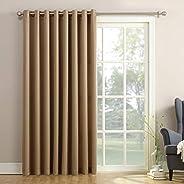 "Sun Zero Barrow Extra-Wide Energy Efficient Sliding Patio Door Curtain Panel with Pull Wand, 100"" x 84&qu"