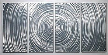 PictureSensations.com Moderne abstrakter Metal Wall Art Decor Skulptur Ripple -