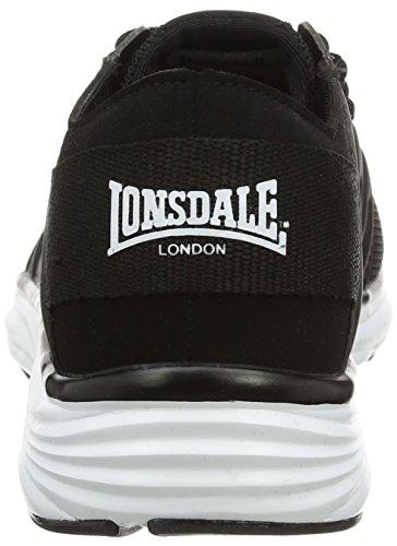 Lonsdale Peru, Scarpe da Corsa Donna Black (Black/White)
