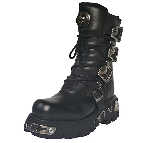 New Rock , Boots biker mixte adulte Noir