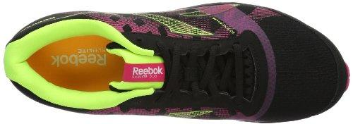 Reebok REEBOK SUBLITE DUO V52574, Scarpe da jogging Donna Nero (Schwarz (BLACK/PINK/YELLOW/WH)