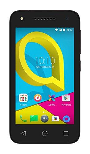 Alcatel 4049D-2AALWE1 10,16 cm (4 Zoll) Pixi U3, Smartphone, 4GB Volcano Schwarz