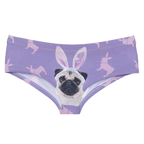 Funny Panties Company© Stampa 3D Mutandine Stampare/Motivo/Design Taglia Unica Unisex Primavera Estate 2017 PLAYPUG 41109