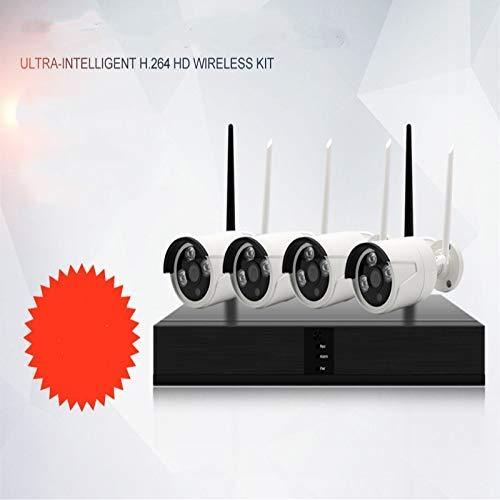 Yyzhx 4-Wege Indoor Wireless Monitoring Gerät Kit HD Infrarot-Kamera WiFi Phone Netzwerküberwachung -