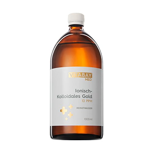 Coloidal Gold 10 PPM - altamente concentrado (nivel de pureza 99.99%) (1000 ml)