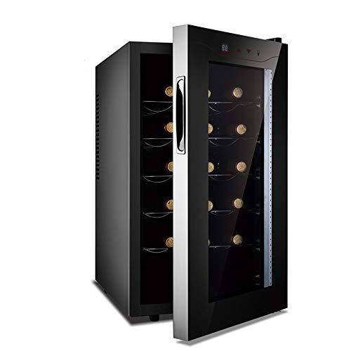 STAR BABY 15 Flaschen von Stand-Alone Touch-Screen-Weinkühler, elektronische Steuerungen, Weinkühlschrank, Schwarz 53L Weinkühlschrank