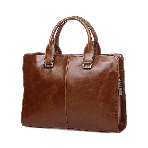 Männer Executive Aktenkoffer Business männliche Tasche Portfolio Top-Handle Taschen für Männer schwarz PU Leder Handtasche ein Fall für Dokumente (Executive-aktenkoffer-tasche)