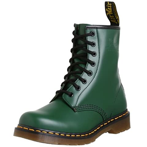 Dr. Martens femmes 1460 originauxs Eight-Eye Lace-Up démarrage,vert Smooth Leather,4 UK (6 M US femmes)