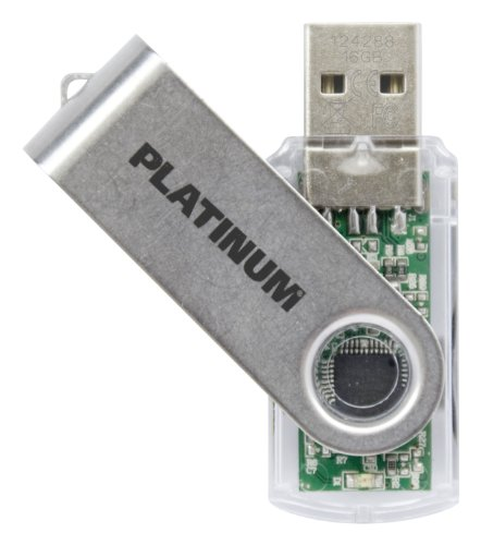 Platinum TWS 16 GB USB-Stick USB 3.0 transparent