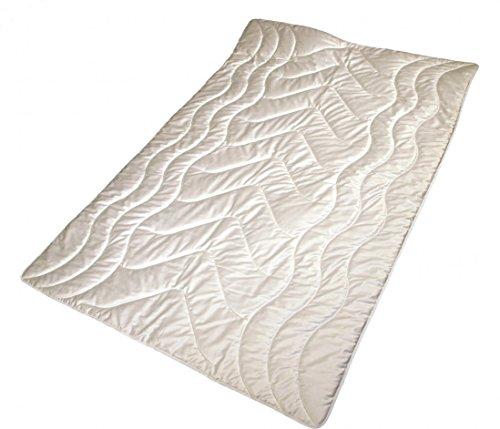 Garanta Bettdecke Übergröße 200 x 220 cm - Extra leichte Sommer Seiden Decke 800 g - Bezug Edelsatin