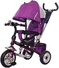 Stepupp Tricycle for Kids Purple Colour with Parent Handel or Back Basket or Canopy Tricycle for Baby boy or Baby Girl Kids trikes or Toddler Tricycle for 1,2,3,4 Years Kids