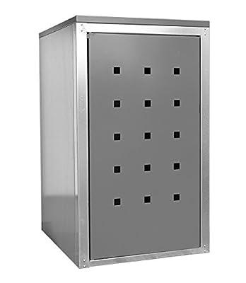Geiger Mülltonnenbox Metall 120l Color Grau von Geiger Metallbau GmbH auf Du und dein Garten