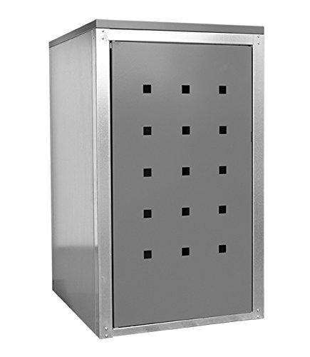 Geiger Mülltonnenbox Metall 120l Color Grau