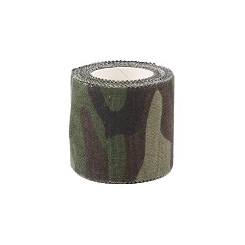 Leezo 4,5 cm x 5 m Tarn Armee Vlies Kohäsive Bandage Selbstklebende Tarnung Kohäsive wasserdichte Wrap Durable Camping Jagd Camo Stealth Tape - Kohäsive Bandage Wrap