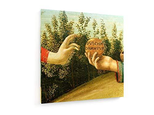 Weewado sandro botticelli - il giudizio di parigi - 40x40 cm - belle stampe d'arte tela - arte della parete - vecchi maestri/museo
