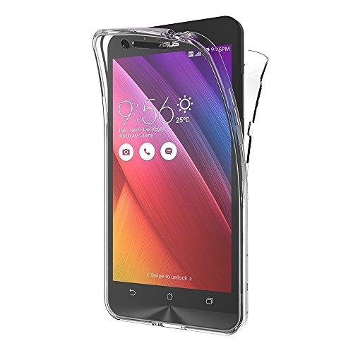 AICEK ASUS Zenfone Go ZC500TG Transparente Silikon 360°Full Body Hüllen für Zenfone Go ZC500TG Silikon Hülle Case (5,0 Zoll)