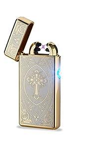 Arc Lighter Electric Dual Plasma Lighter-Gold Card