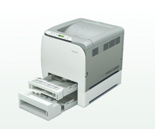 Ricoh Aficio SP C240DN Farblaserdrucker OHNE TONER !!! (2400x600 dpi, Ethernet 10 Base-T/100 Base-TX, USB 2.0) grau | Farblaserdrucker ohne Toner Kartuschen!!!