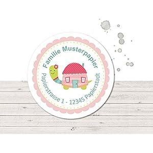Adressaufkleber • Schildkröte rosa • 24/120/240 Stück (A26) Sticker - kunterbunte Aufkleber vom Papierbuedchen