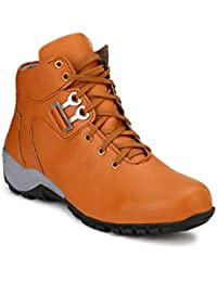 Wave Walk Men Trendy Synthetic Leather Boots