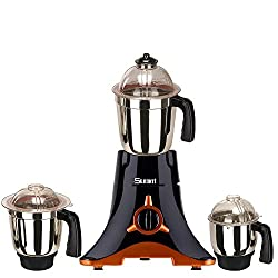 Sunmeet Black Color 600Watts Mixer Juicer Grinder with 3 Jar ( 1 Large Jar, 1 Medium Jar and 1 Chuntey Jar)