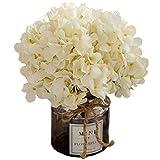 Jnseaol Kunstblumen Künstliche Blumen Gefälschte Blumen Diy Wohnzimmer Schlafzimmer Sill Hochzeit Küche Dekoration Glas Topf Urlaub Geschenk Weiß-31