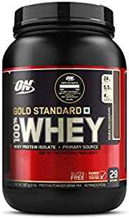 Optimum Nutrition (ON) Gold Standard 100% Whey Protein Powder - 2 lbs, 907 g (Double Rich Chocolate), Primary